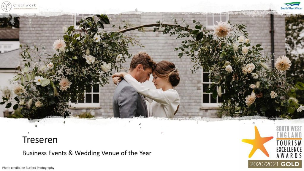 Treseren south west wedding venue of the year