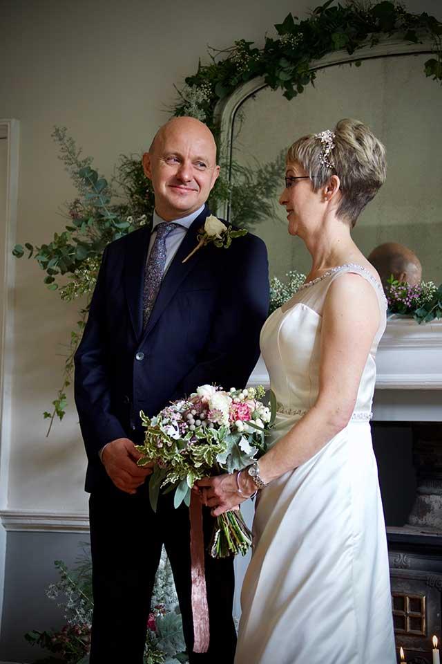 wedding couple stood in ceremony
