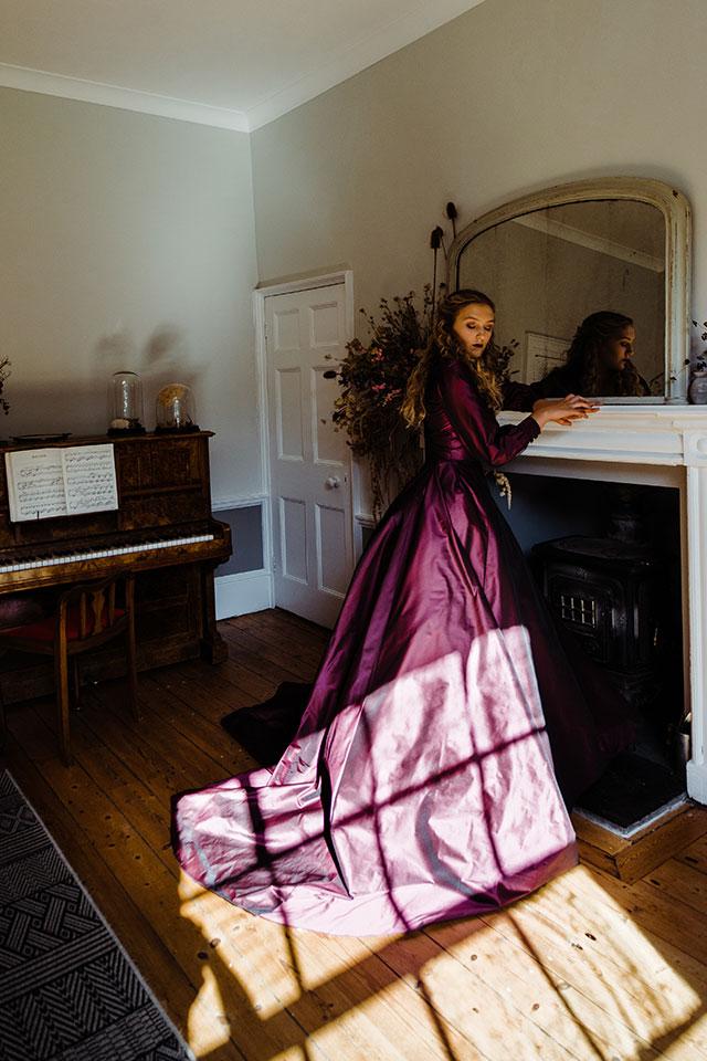 upcyled wedding dress country house photoshoot