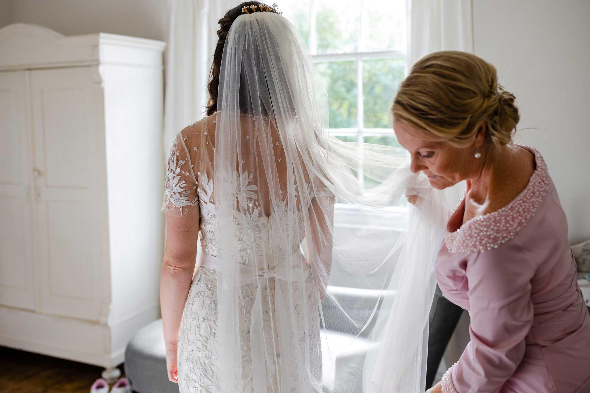 Jenny Packham bride on wedding morning