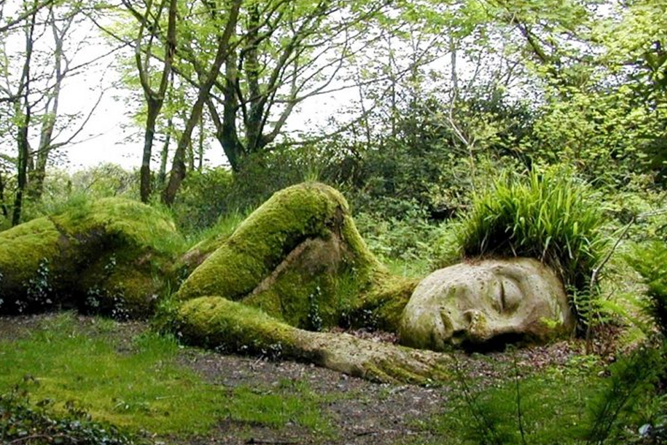 the sleeping giant at Lost Gardens of Heligan