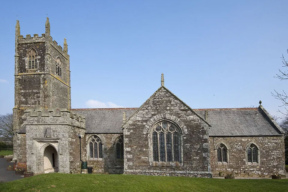 St Newlyn East church near Newquay, Cornwall