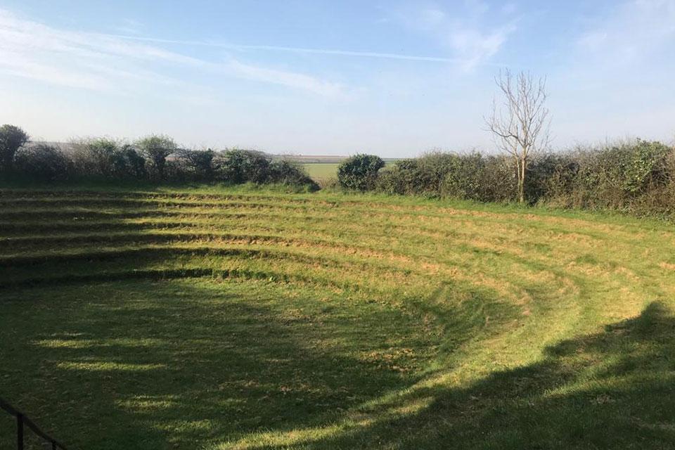 St Newlyn East preaching pit grass amphitheatre