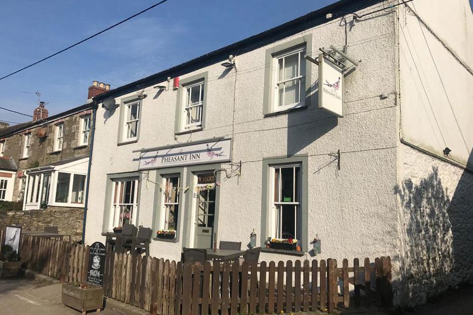 The Pheasant Inn pub in St Newlyn East Cornwall