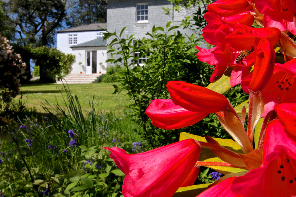 Treseren country house garden in Cornwall
