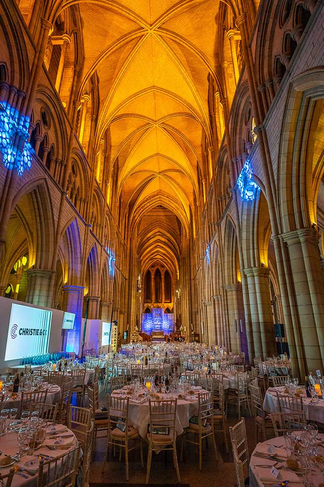 Truro Cathedral set up for The Cornwall Tourism Awards 2019