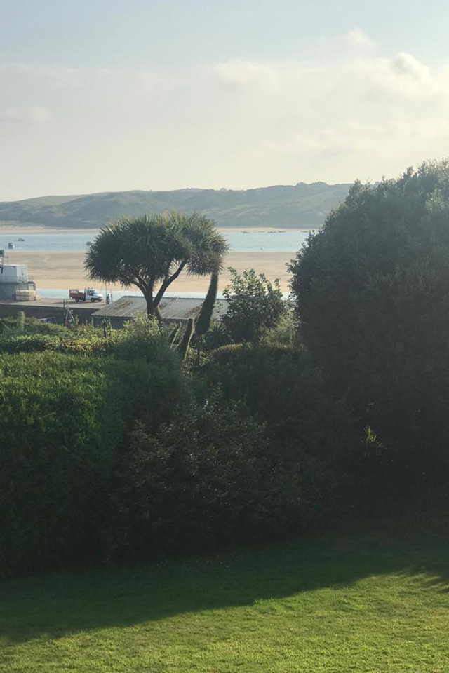 View from the terrace at Treverbyn House bed and breakfast in Padstow