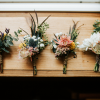 rustic flower wedding buttonholes