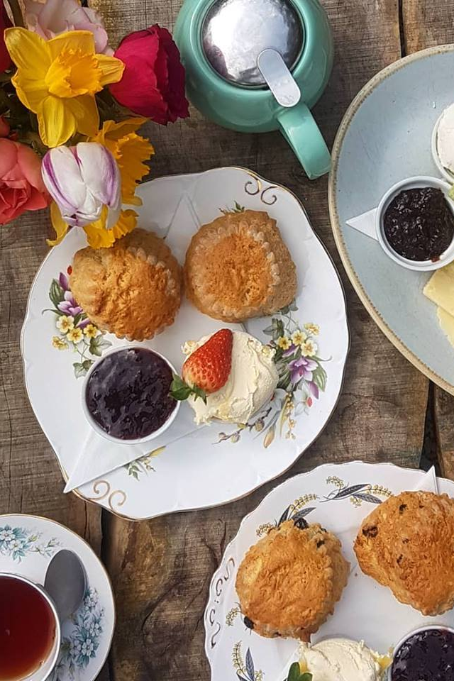 Cornish cream tea vintage china