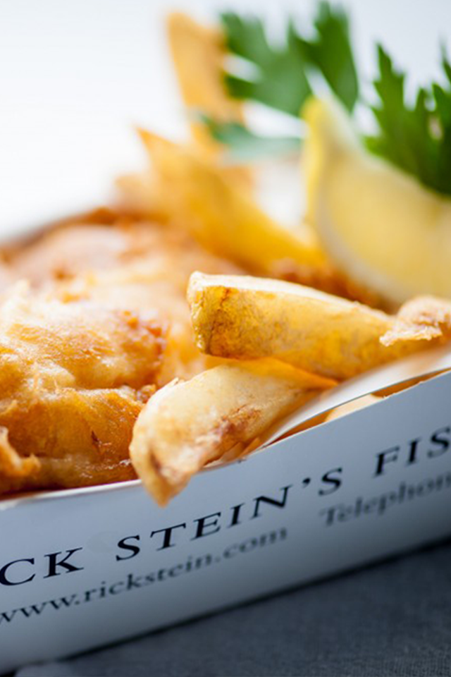 Rick Stein fish and chips Padstow