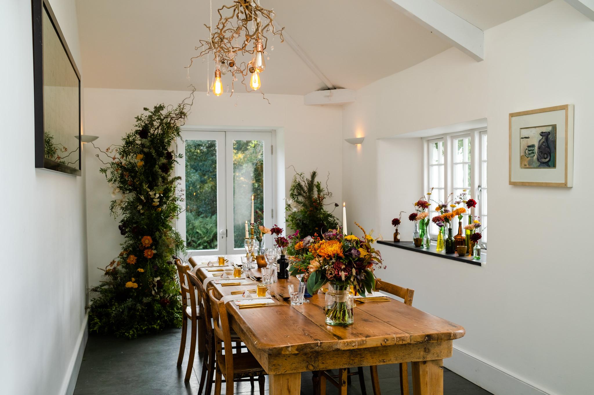 small wedding table for dining setup