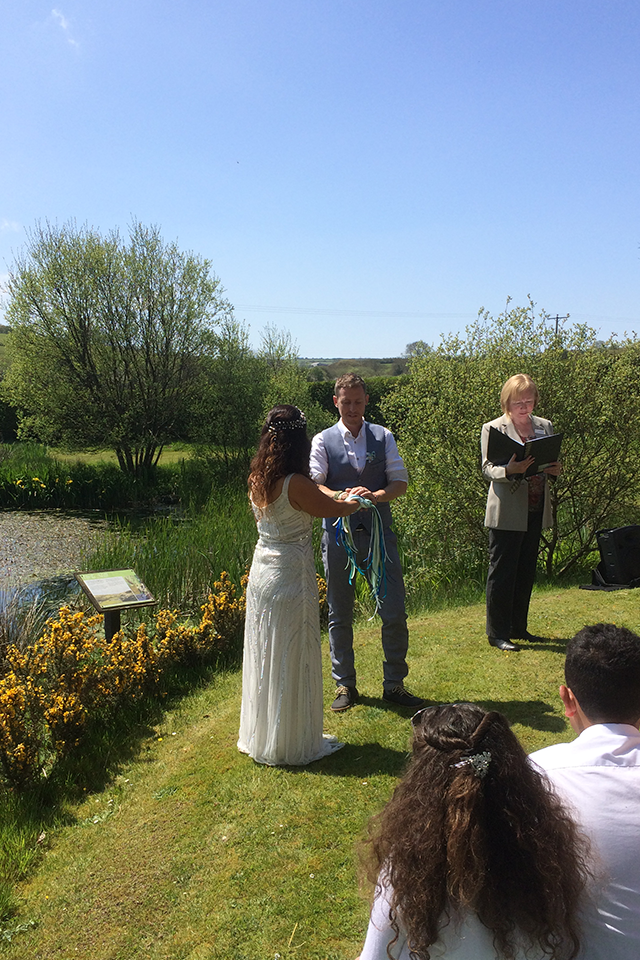 Personalised outdoor wedding ceremony