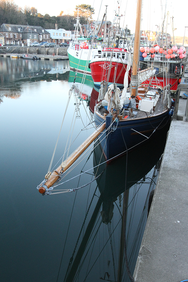 Padstow harbour boat
