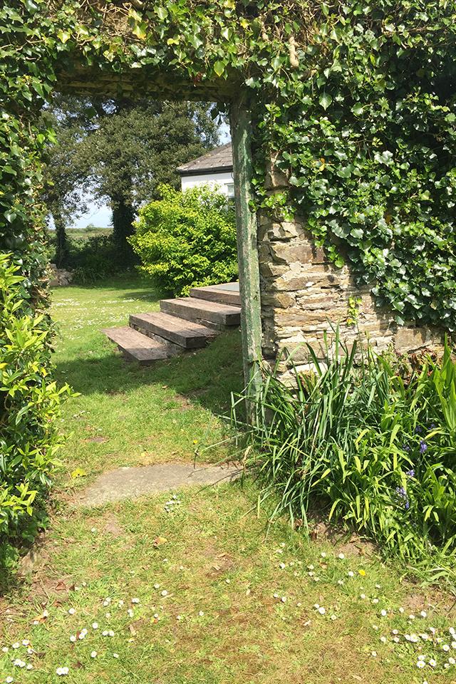 Secret garden pathways Cornwall