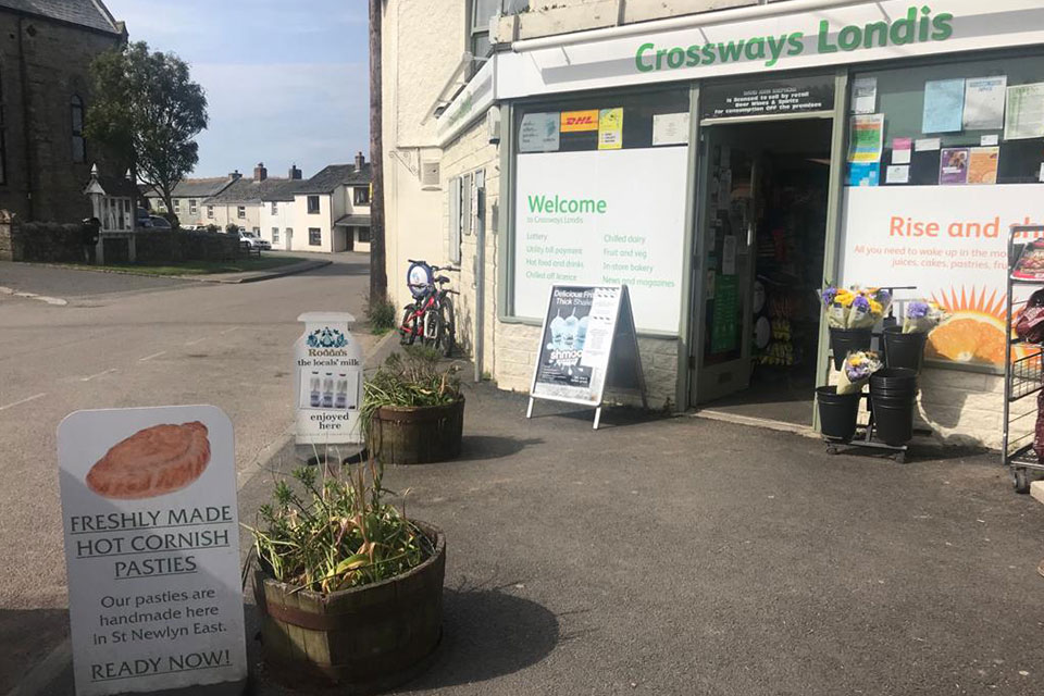 Crossways village shop St Newlyn East