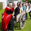 Poldark wedding party in wagon
