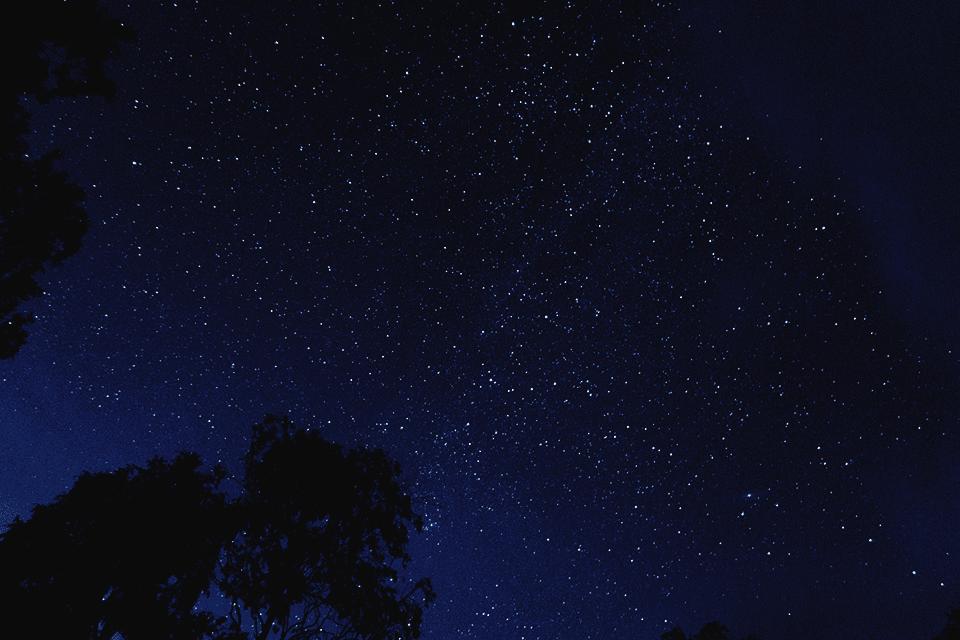 Starry night sky Cornwall