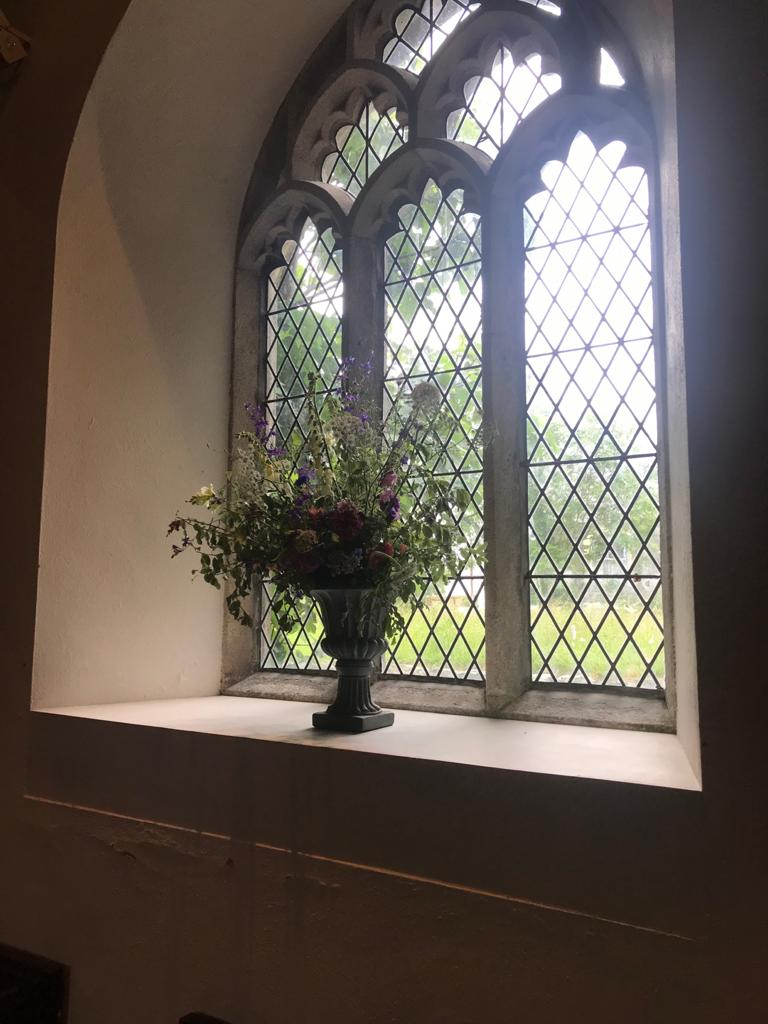 church flowers by Three Acre Blooms