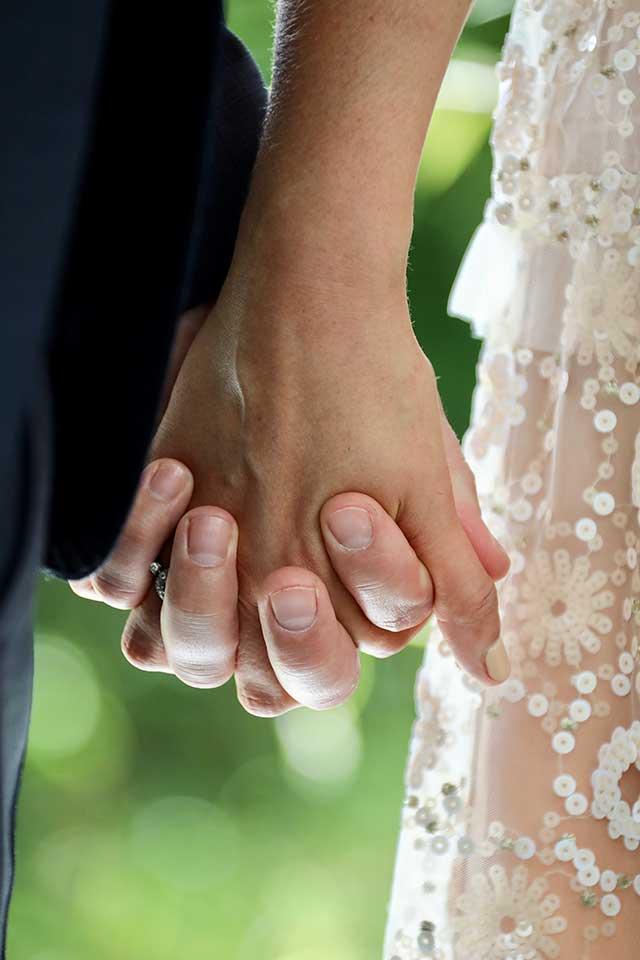 Valentine's Day Wedding Inspiration holding hands