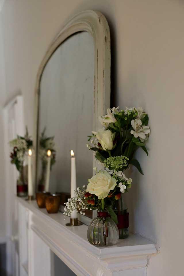 wedding windowsill decor