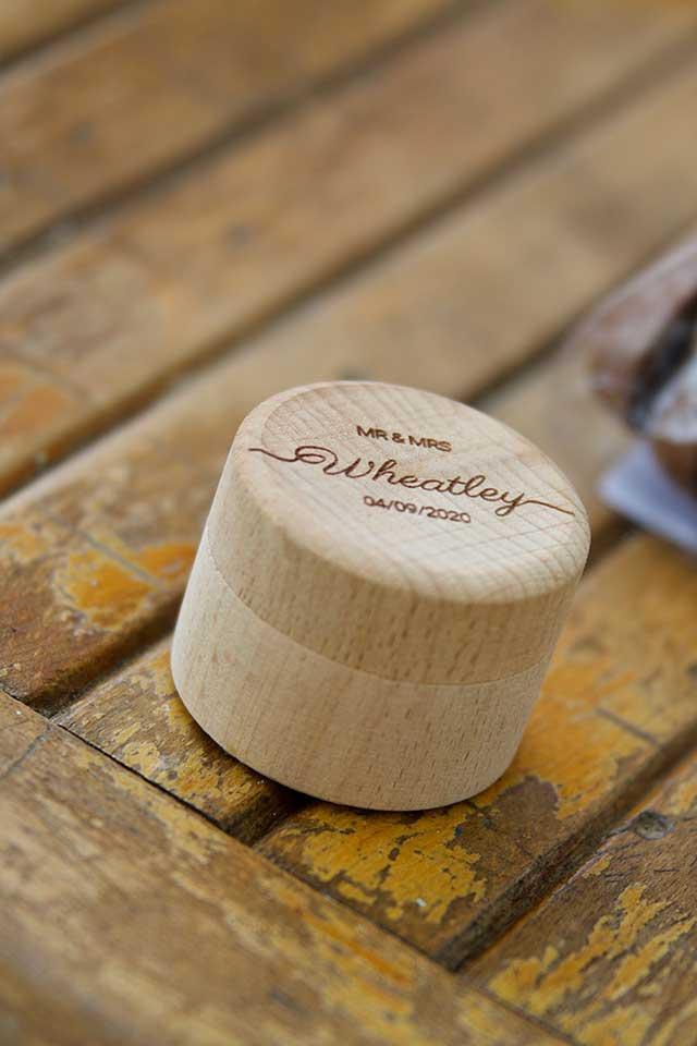 custom wooden wedding ring box